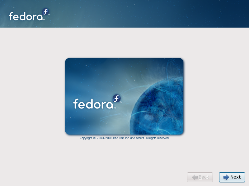710 Welcome to Fedora Installation Guide