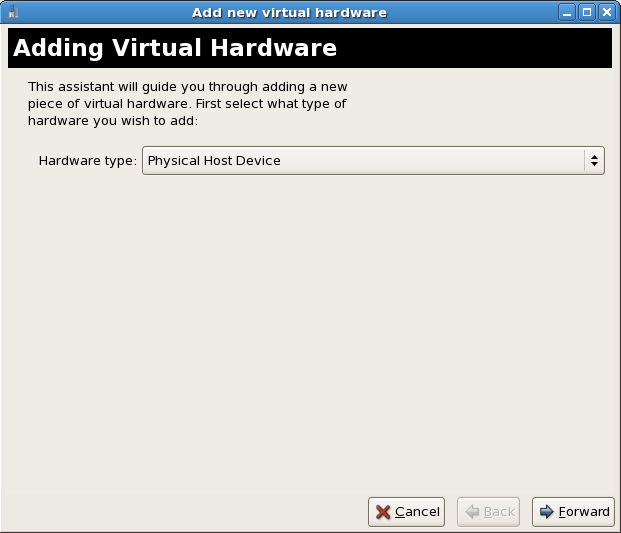 13 2  Adding a PCI device with virt-manager