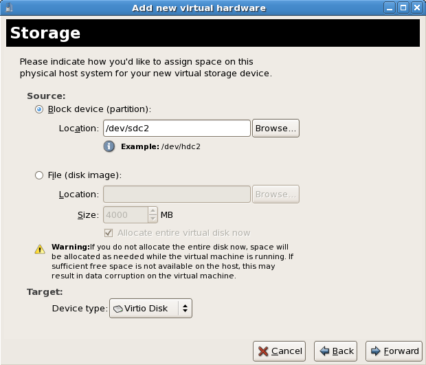 12 4  Using KVM para-virtualized drivers for new devices