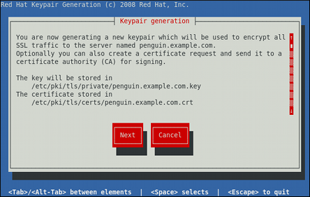 11.6.4. Generating a New Key and Certificate