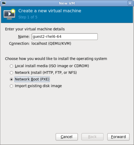 6 4  Installing guest virtual machines with PXE